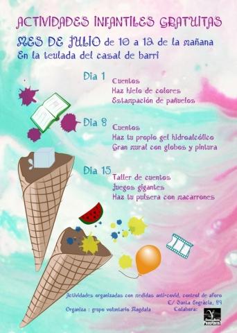 Activitats infantils juliol